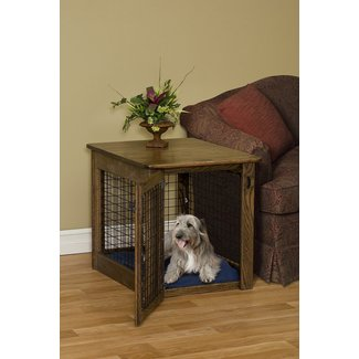 Medium dog crate end table