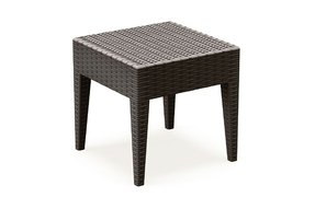 "Miami Square Resin Side Table (Brown) (18""H x 18""W x 18""D)"