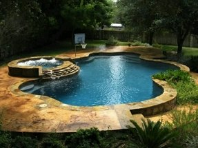 Pool Hot Tub Design