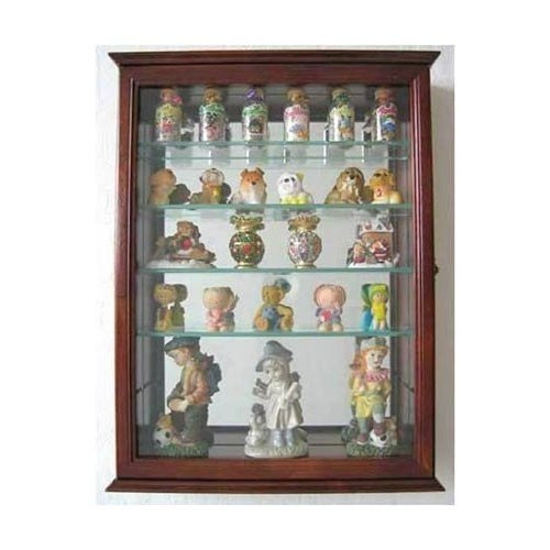 Beautiful Small Wall Mountable Curio Cabinet Shadow Box, With Glass Door, Mirrored  Back, CD06