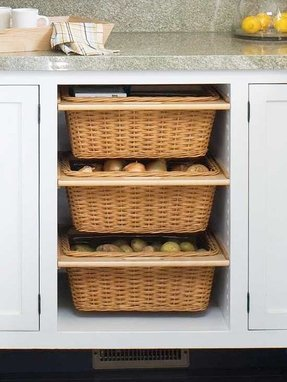 Storage Cabinets With Baskets