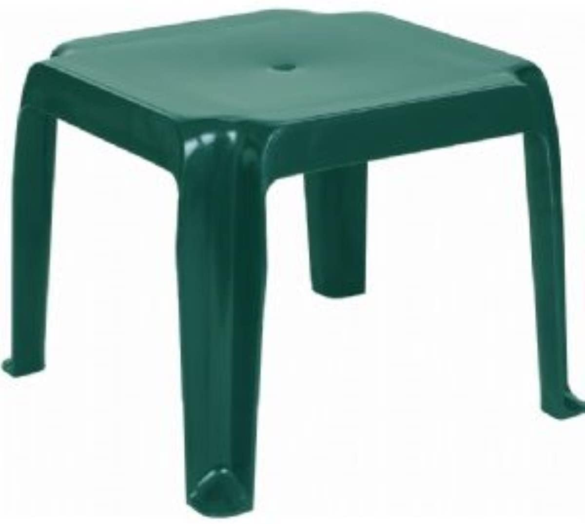 Sunray Resin Square Side Table [Set Of 2] Color: Green