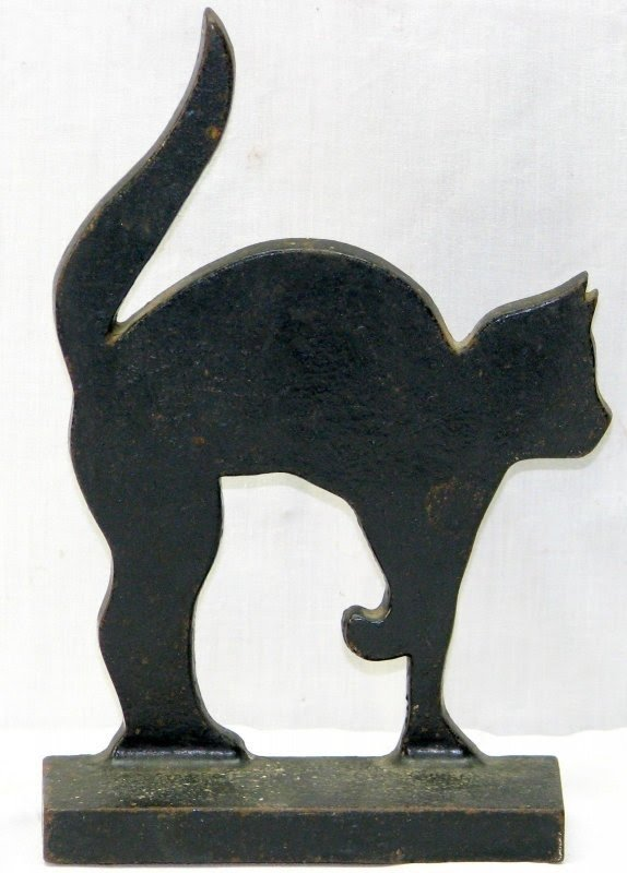 Decorative Door Stopper Black /& White Cat Door Stop Unique Doorstop Interior