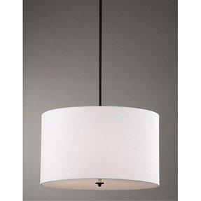 Indoor 4 light white shade pendant chandelier 1