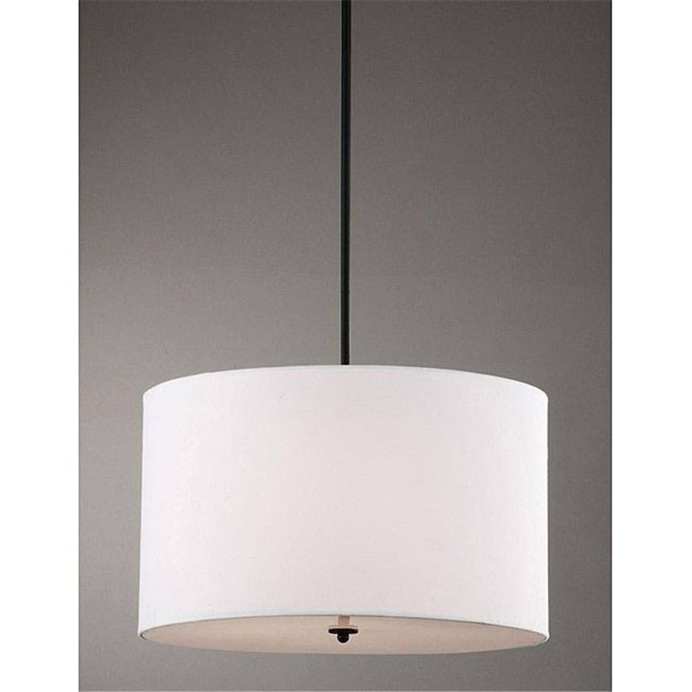 Indoor 4 Light White Shade Pendant Chandelier 1