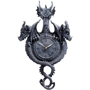 "ON SALE! ""Past, Present, Future Sculptural Dragon Wall Clock"" [Kitchen]"