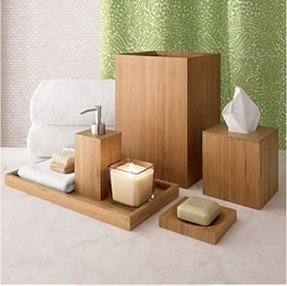 Wooden bath accessories