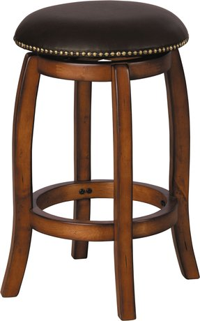 "24""H Swivel Counter Height Stool Vintage Oak Finish"