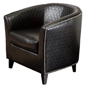 Best Ing Mia Leather Quilted Club Chair