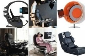 Computer chair with speakers