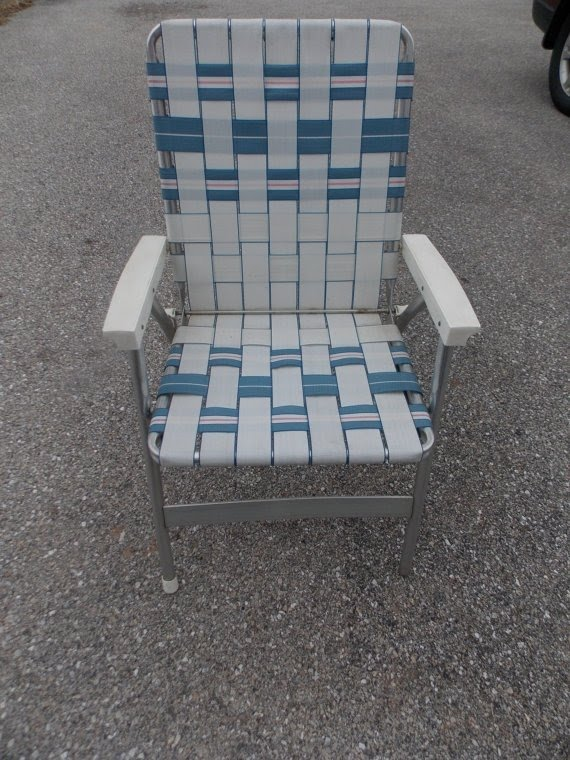 Folding Aluminum Webbed Lawn Chair Patio By Pfantasticpfindstoo 30 00