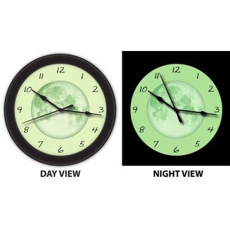 Glow in the dark wall clock 9