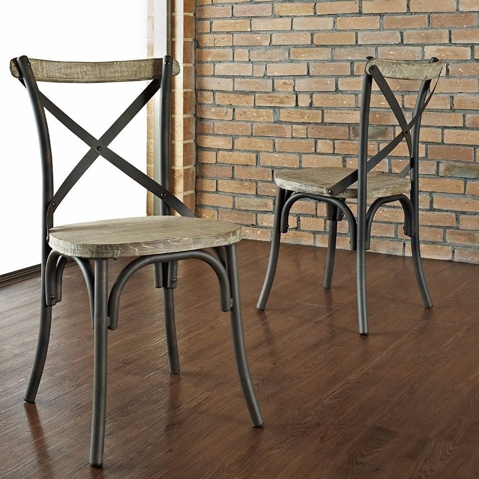 Industrial Reclaimed Solid Wood Dining Chairs Set of 2 & Wood Dining Chairs - Foter