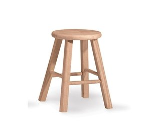 Lovely 18 Inch Wooden Stools