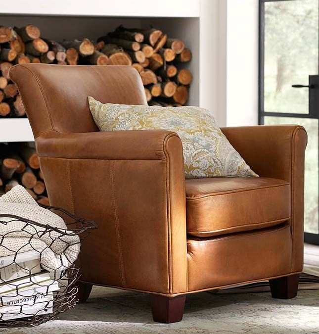 Irving Professor Leather Armchair