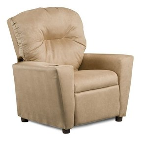 Kidz World Solid Color Kids Suede Recliner