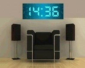 Large Digital Wall Clock 17