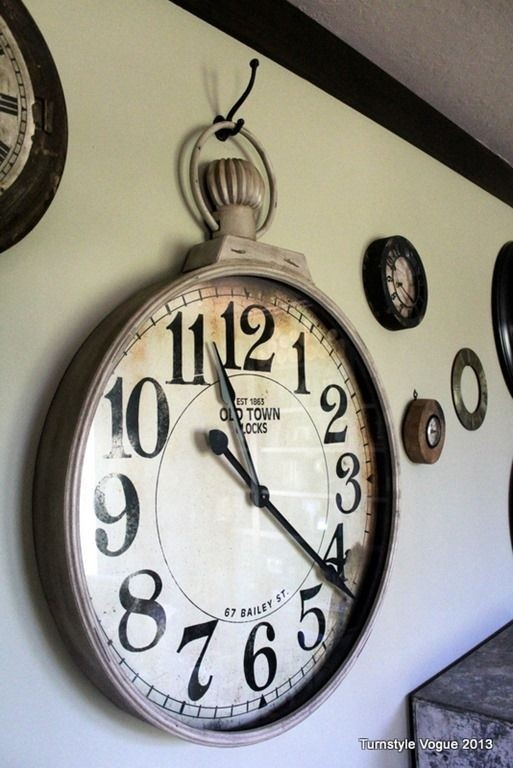 Large pocket watch wall clock 1
