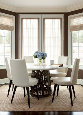 Marble top dining table round