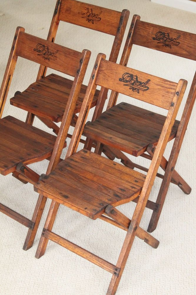 Old wooden folding chairs & Wooden Folding Chairs - Foter