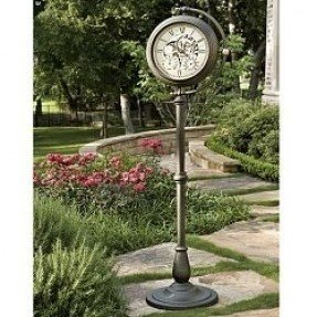 Outdoor Wall Clock And Thermometer
