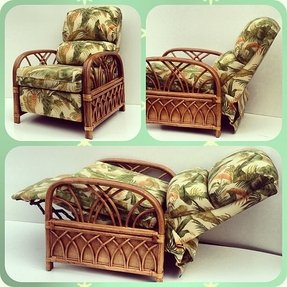 Rattan reclining chairs