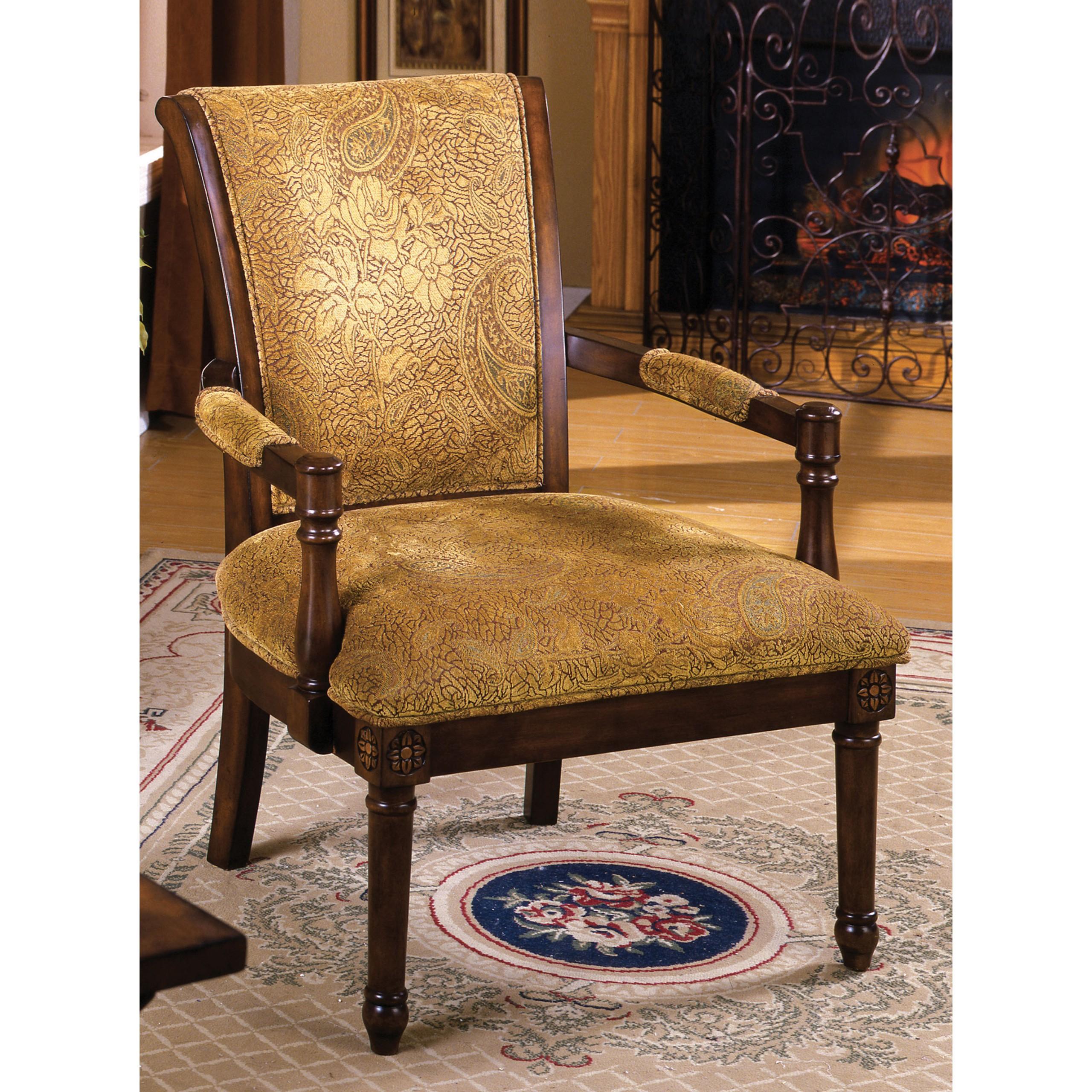Saint Bailey Antique Oak Wood Accent Chair
