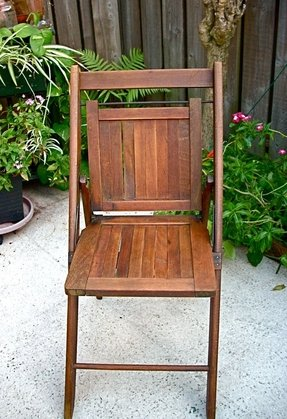 Sale 10 off vintage wooden folding chair