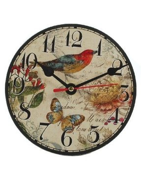 Small Bird/Butterfly Table Clock with Stand