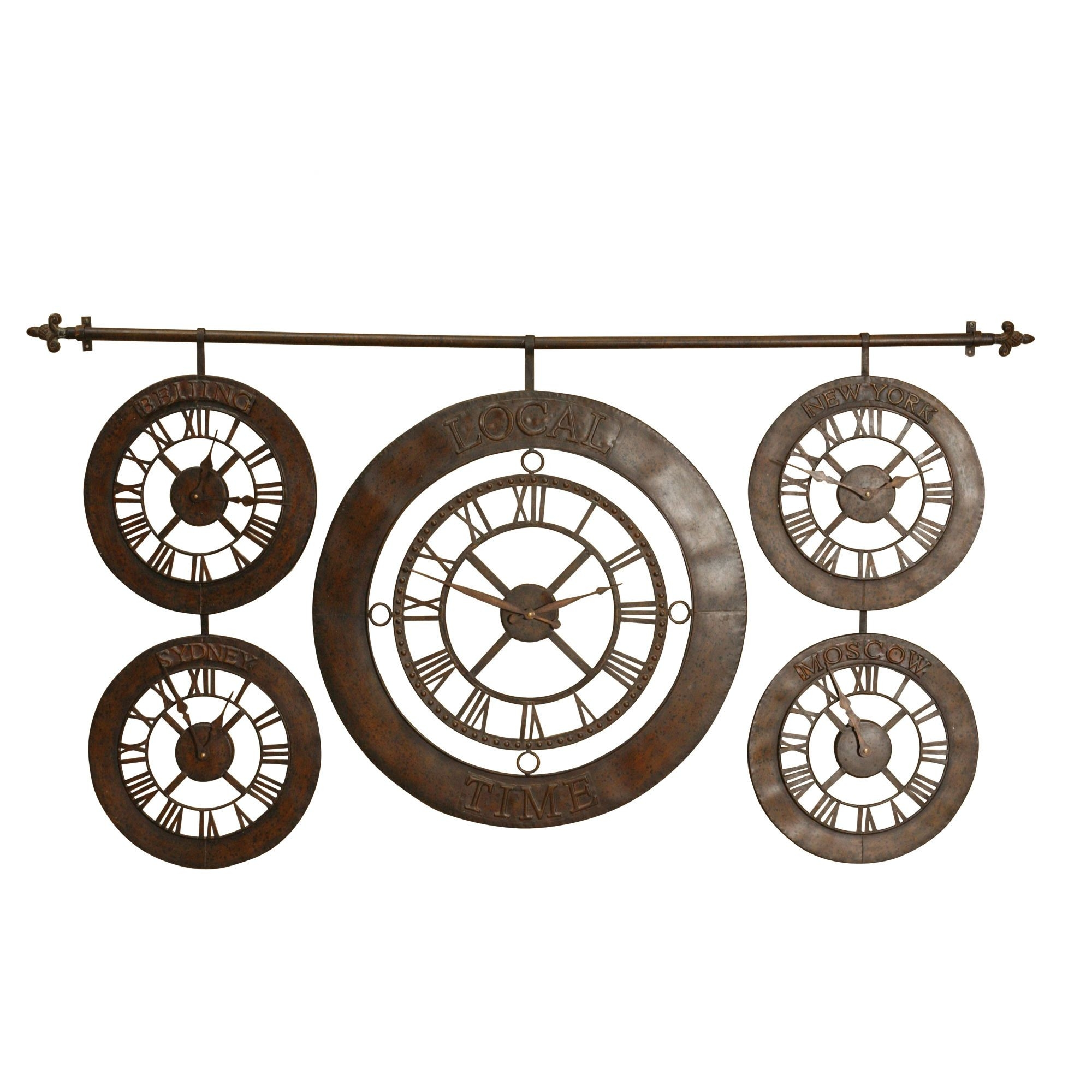 Time Zone Wall Clocks Foter