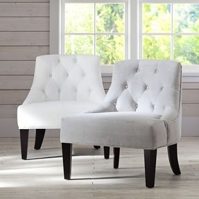 Tufted bedroom chair 1