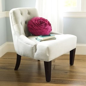 Tufted bedroom chair