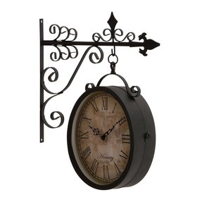 UMA Enterprises 35414 Metal Outdoor Double Clock, 14 by 17-Inch