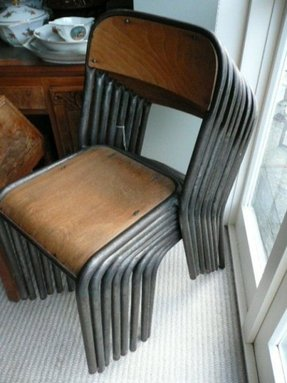 Vintage school chairs 4