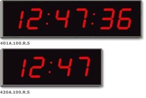 Wharton 401a 100 Digital Wall Clock With Red Digits