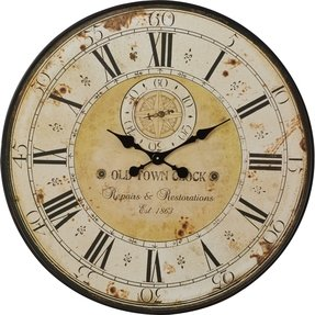 Woodland imports romanian styled antique wall clock