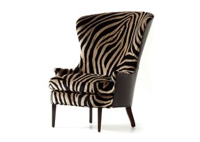 Animal print arm chair