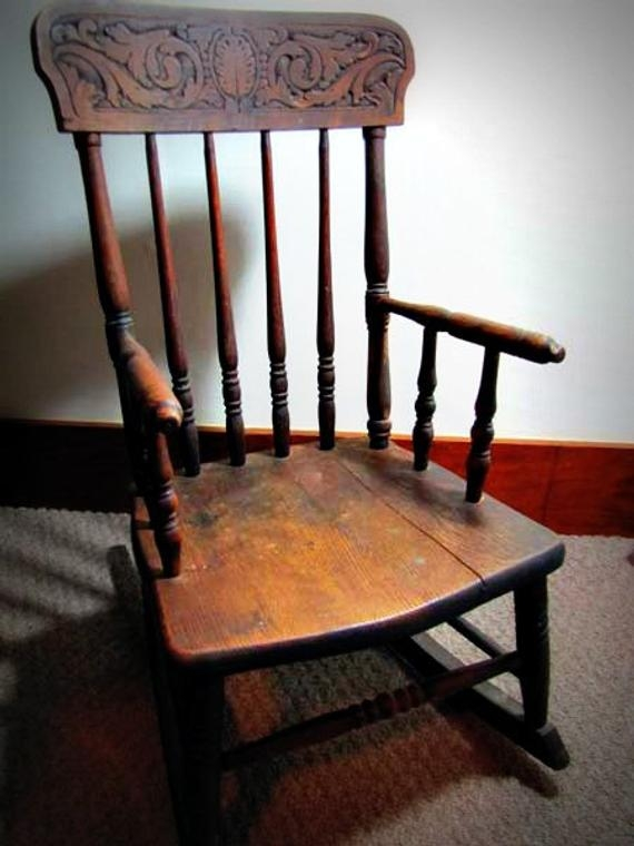 Antique Childrens Rocking Chair S Bend