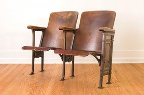 Antique theater chairs 1