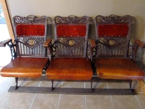 Antique theater seats