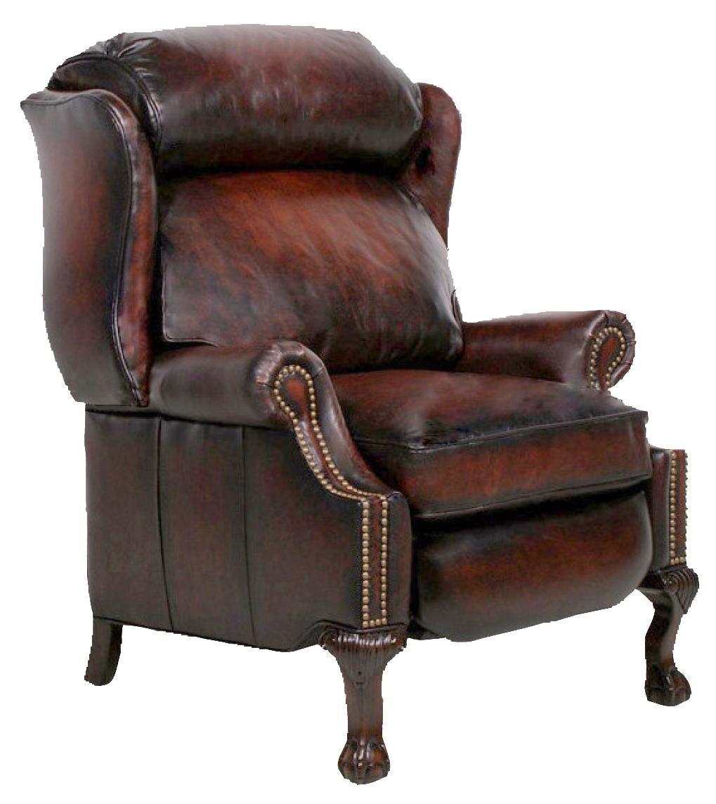 Barcalounger Danbury Ll Stetson Bordeaux Leather Recliner