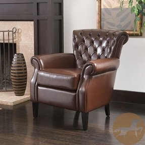 Awesome Leather Club Chairs Ideas On Foter Ncnpc Chair Design For Home Ncnpcorg