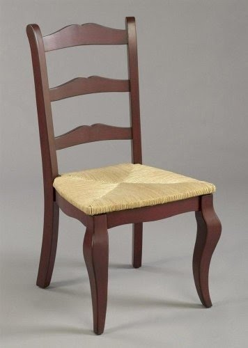 Classic Ladder Back Dining Chair W Red Finish U0026 Woven Rush Seat