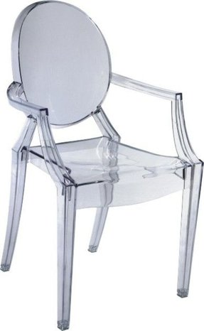 Colored lucite chairs