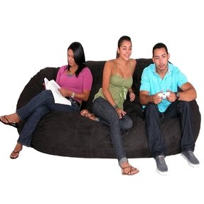 Cozy Sack 8-Feet Bean Bag Chair, X-Large, Black
