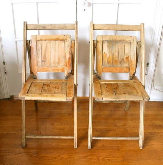 Dark Wood Folding Chairs 1