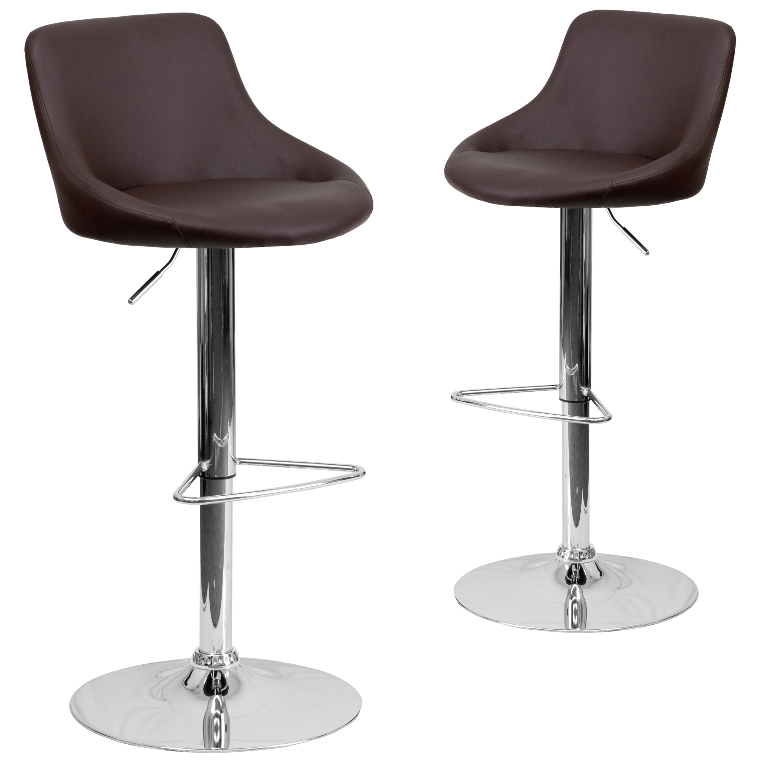 Designer Bucket Seat Swivel Home Office Kitchen Bar Stools Chairs 6 Colors  #82028