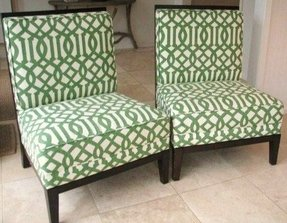 Fabric chairs 9