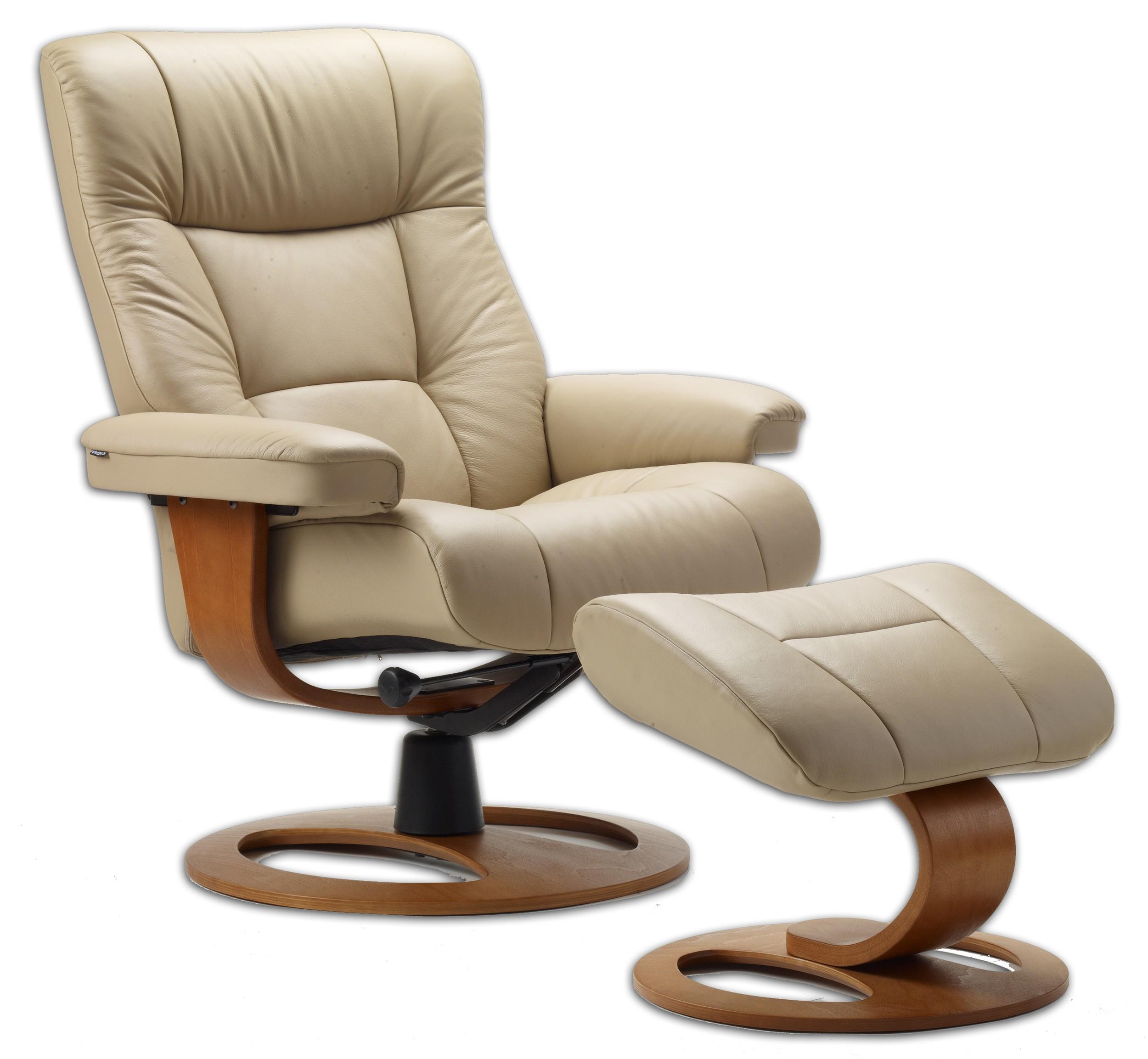 Charmant Fjords Manjana Leather Recliner DR Frame Norwegian Ergonomic Scandinavian  Lounge Reclining Chair Furniture Soft Line Genuine
