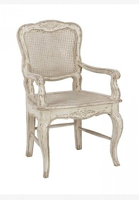 French Country Cane Arm Chair